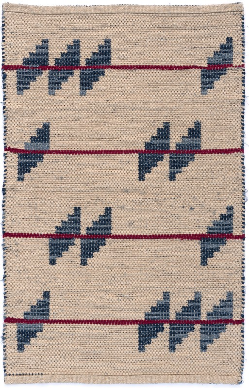 handwoven cotton rag rug by Nancy Kennedy