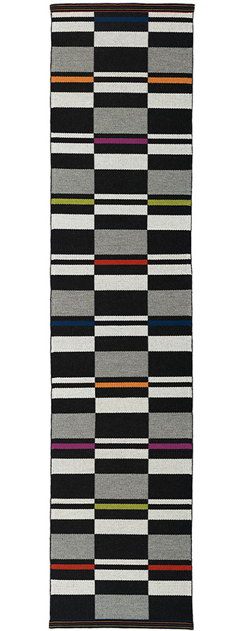 Fibonacci Runner - handwoven wool rug by Nancy Kennedy