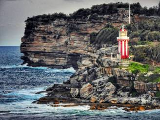 Hornby Lighthouse at the South Head entrance to Sydney Harbour.