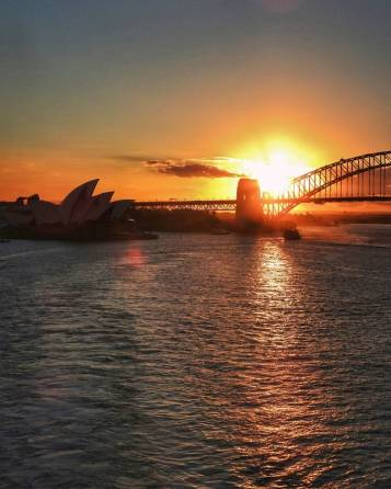 Honestly, a cruise out of Sydney is worth it just for the sunset departure.