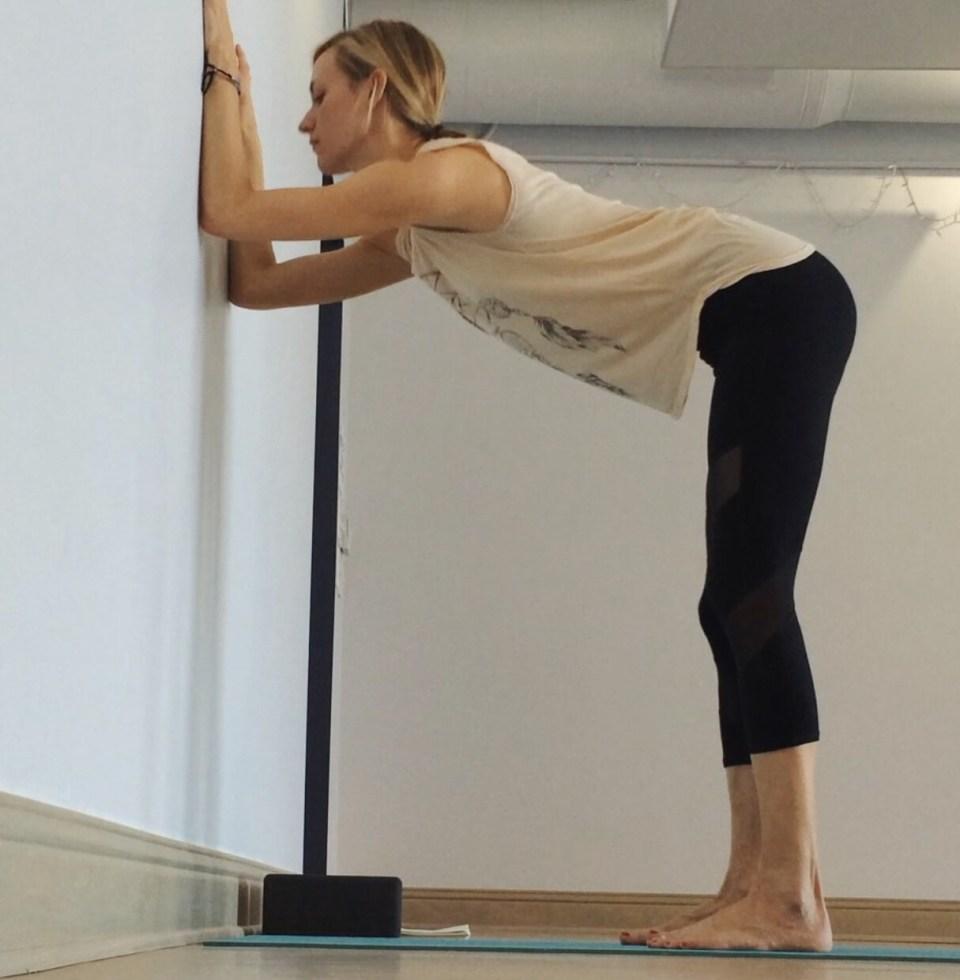Yin Yoga at the Wall - Dolphin prep at wall