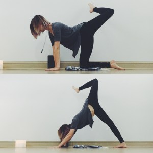 Table top/down dog counter poses