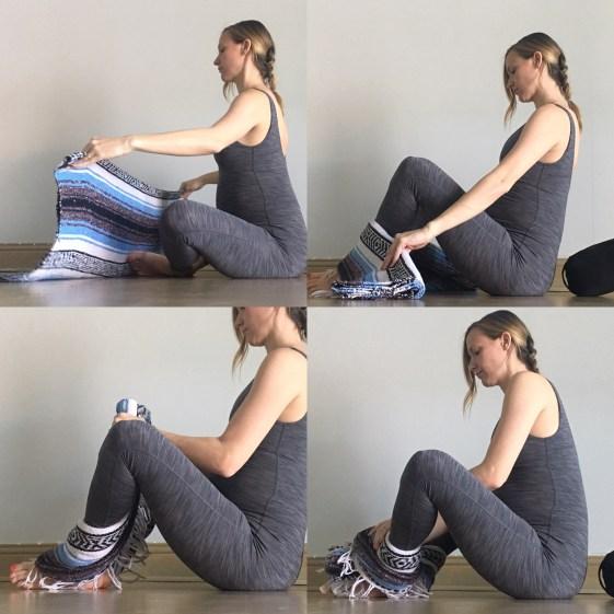 Blanket Wrap - Prenatal Yin Yoga Sequence