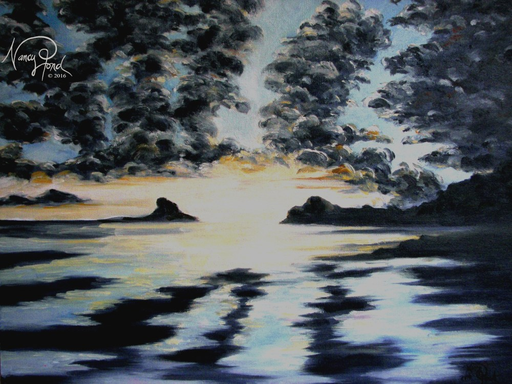 """Ocean Sky 1"" Oil on Canvas (2010 11x14 -- In Private Collection)"