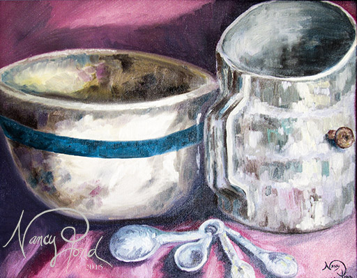 """Before Baking"" Oil on Canvas (2009 11x14)"