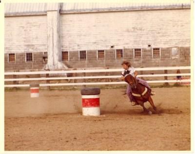Me, barrel racing my horse, Skeeter Reese. I wrote a book about Skeeter!