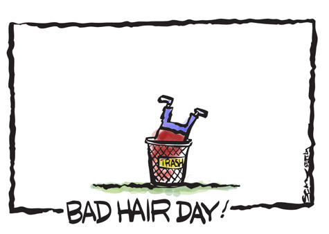 Since chemo, every day is a bad hair day!