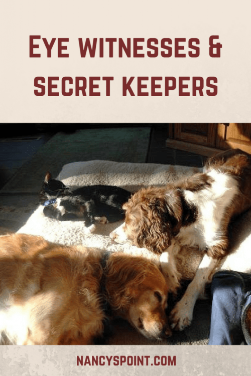 Eye witnesses & secret keepers