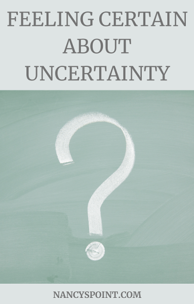 Feeling Certain About Uncertainty #covid19 #pandemic #cancer #breastcancer #coping #emotions #inthenews #advocacy