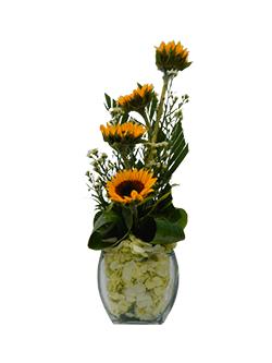 Arreglo floral con girasoles