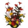 Arreglo floral de flores secas