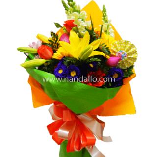 Ramo floral para cumpleaños