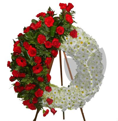 Corona con bouquet