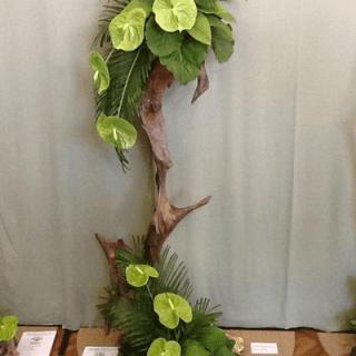arreglo floral con anturios