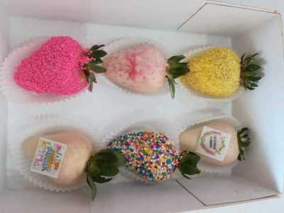 Caja de fresas día de la madre