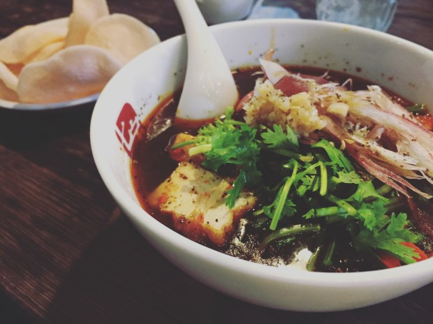 bowl of spicy shanghai style soup