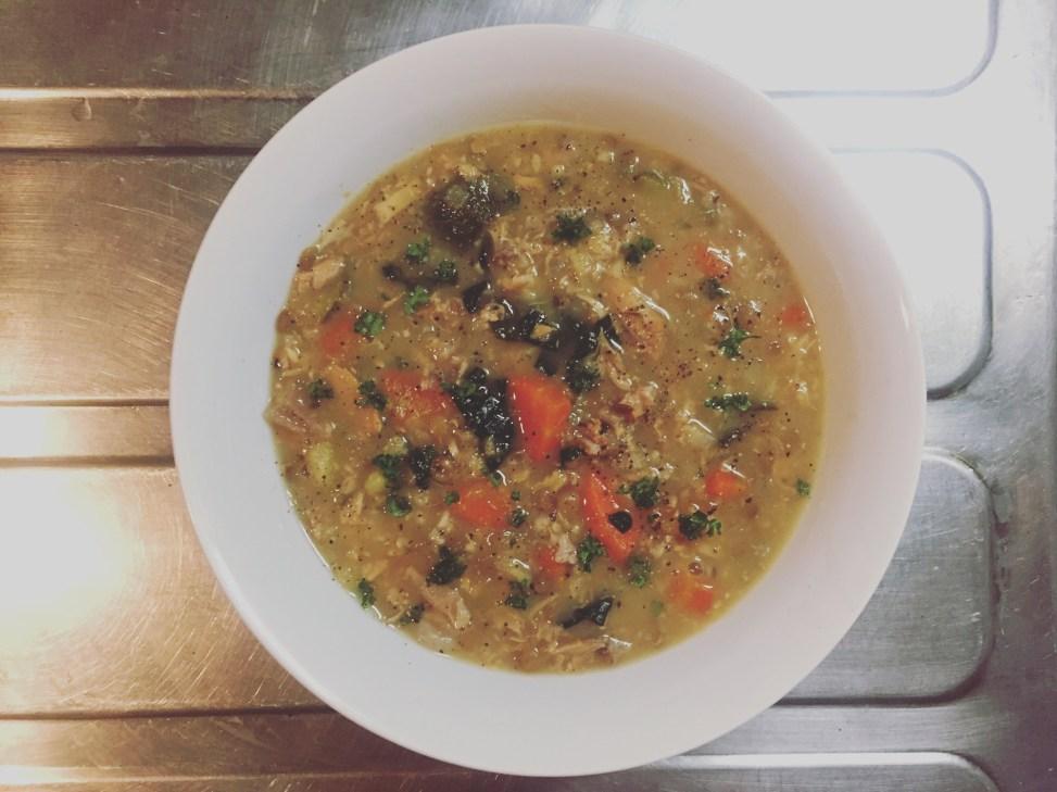 finished turkey frame and lentil soup nandemo kitchen
