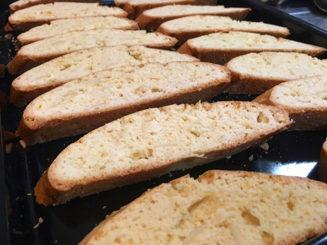 almond biscotti with darjeeling tea liqueur