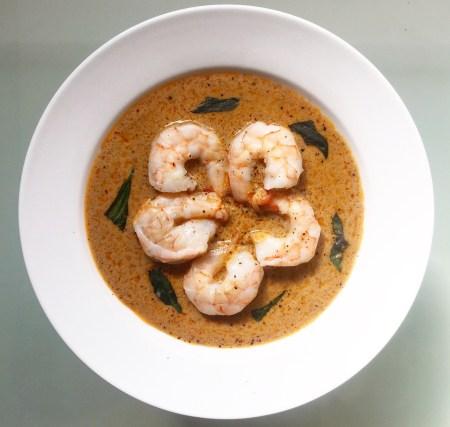 Poached Shrimp in Coconut Cream Curry