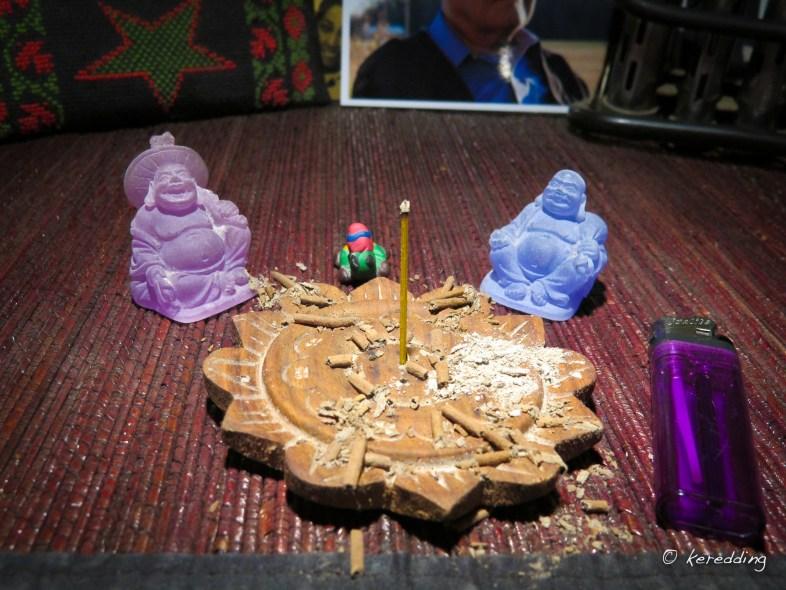365-13 Purple Buddha Blue Buddha