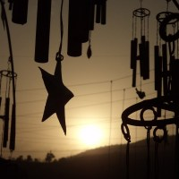 Wind Chime Tree - Silhouetted Sunset Melodies