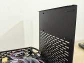 """A 2.5"""" drive can be installed using additional brackets on this panel."""