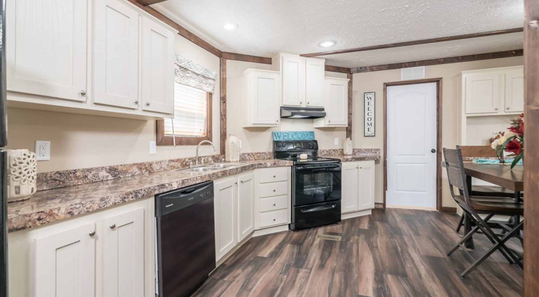 16x80 White Country Kitchen  NM Mobile Homes
