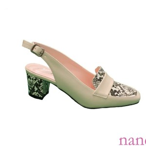 Bej Alçak Topuklu klasik sandalet - wholesale women sandals - оптом ремешок сандалии - الجملة صندل - de gros sandale à lanières