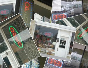 "Dozens of illegal ""neon type"" lighted signs have been overlooked by sign police."