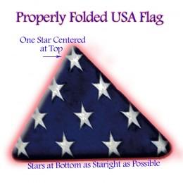 A properly folded American Flag.