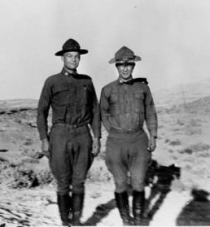 28-year-old Lt. Colonel Eisenhower and Major Sereno Brett during their 1919 adventure.