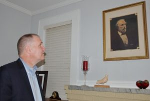 U.S. Congressman Trent Kelly (R-Ms1st Dist.) contemplated a late life painting of Robert E. Lee during his time in New Albany, Monday, Feb. 22nd.