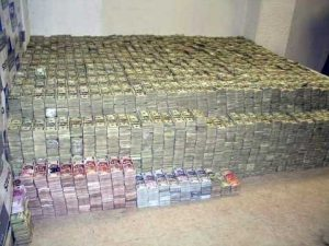 The money found hidden inside walls, suitcases and closets in one of Mexico City's wealthiest neighborhoods came from the profits of methamphetamines sold in the United States, [DEA chief Karen Tandy] said, March 2007