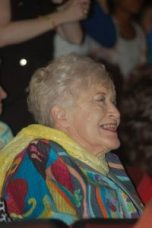 Joyce Sumners, long-time supporter of the New Albany Symphony League, enjoys the student performance.