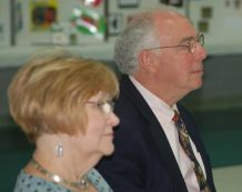 Linda and Bill Everett, shown here at the 2016 meeting on Thursday, were named UNITE Volunteers of the Year in 2015.