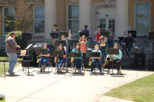 The New Albany High School Jazz band