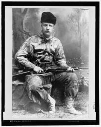 Theodore Roosevelt, 1885, no Mint Julep in sight