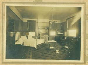 Patient room in Mayes Hospital Photo: Courtesy of Union Co. Heritage Museum