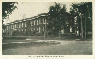 Mayes Hospital, at the corner of Central Avenue and Main St., New Albany Photo: Courtesy of Union Co. Heritage Museum