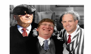 Hollywood's Three Stooges were funny, Mississippi's, not so much.