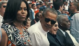 President Obama and Michelle take in a Cuban baseball game. March, 2016