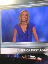 "Laura Ingraham calls for all the ""boy's with bruised egos and hurt feelings"" to keep their pledge....THE CROWD WENT CRAZY!! Ready to see the faces of men with integrity show up and keep their pledge.....you know who they are. 7-20-2016"