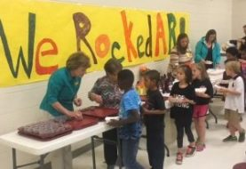 New Albany Elementary School students in grades K-5 have been busy Rockin' and Reading to meet their Accelerated Reader goals for the first 9 weeks of school. 525 students were rewarded with an ice cream sundae party on Friday, October 14 for meeting their grade's point goal and having an 85% average on their AR tests. Each 9 weeks students will work to meet their reading goal and be rewarded.