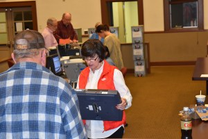 Circuit Clerk Phyllis Stanford oversees the Union County voting procedure.