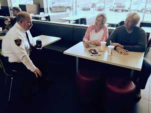 McDonald's series with police chief