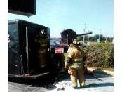 mobile food truck trailer fire