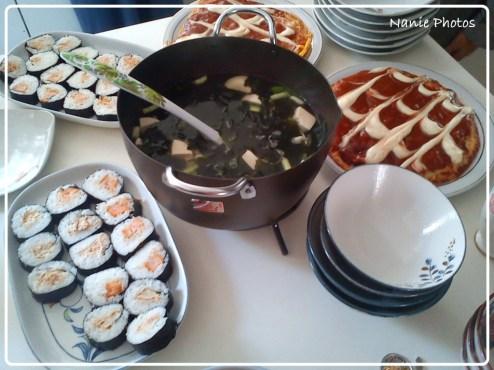 Maki Sushi, Miso Soup dan Okonomiyaki