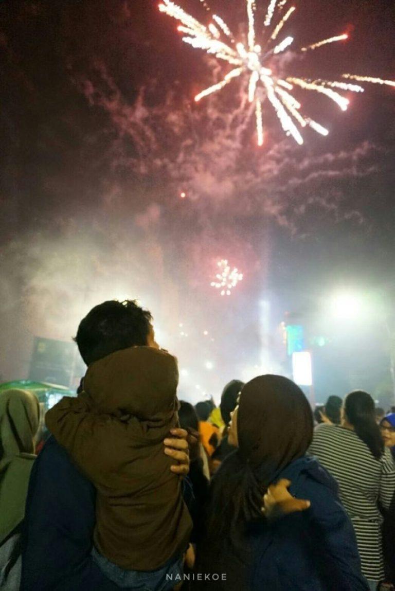 malam tahun baru di Makassar