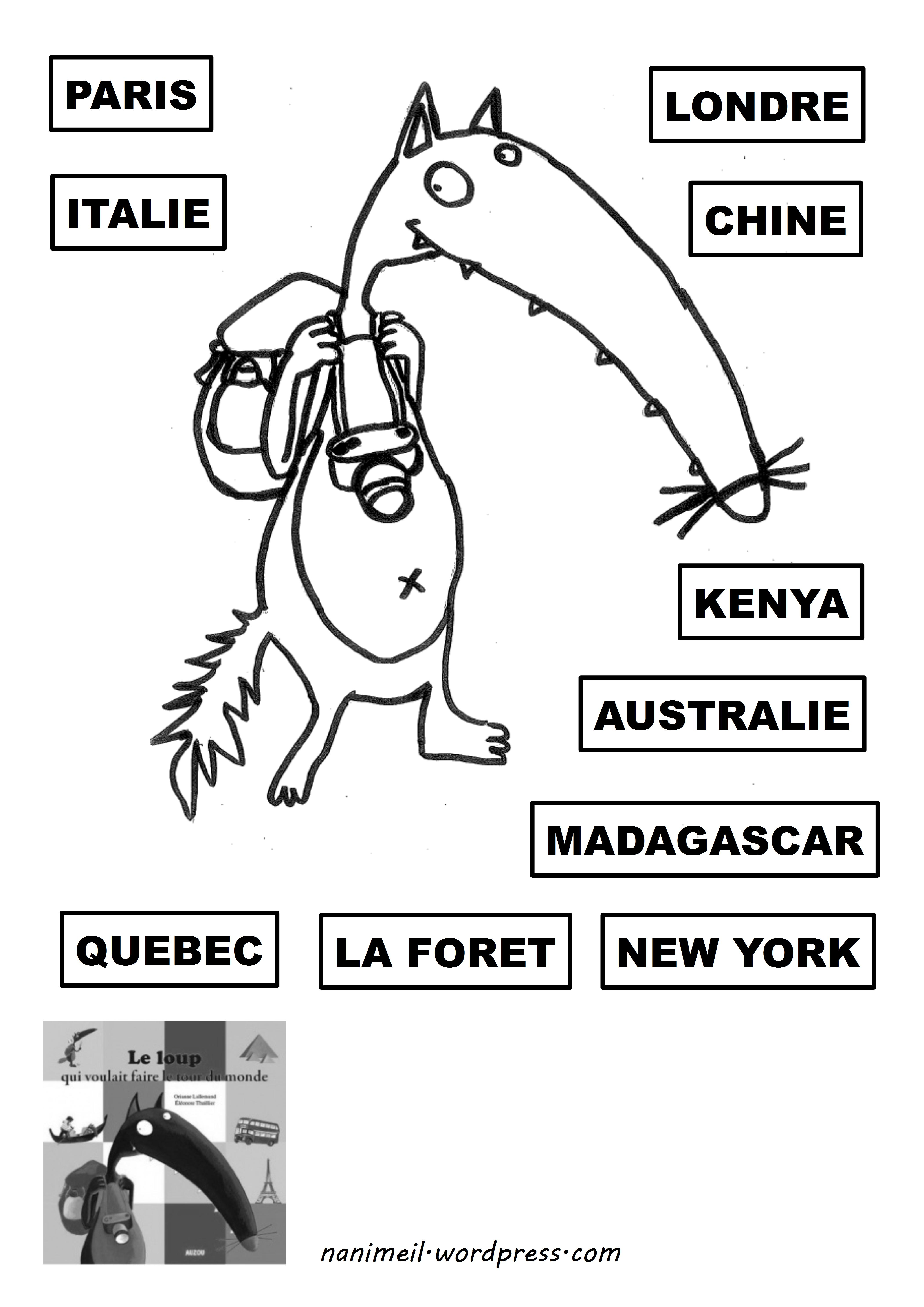 Le Loup Qui Voulait Faire Le Tour Du Monde Coloriage : voulait, faire, monde, coloriage, Voulait, Faire, Monde