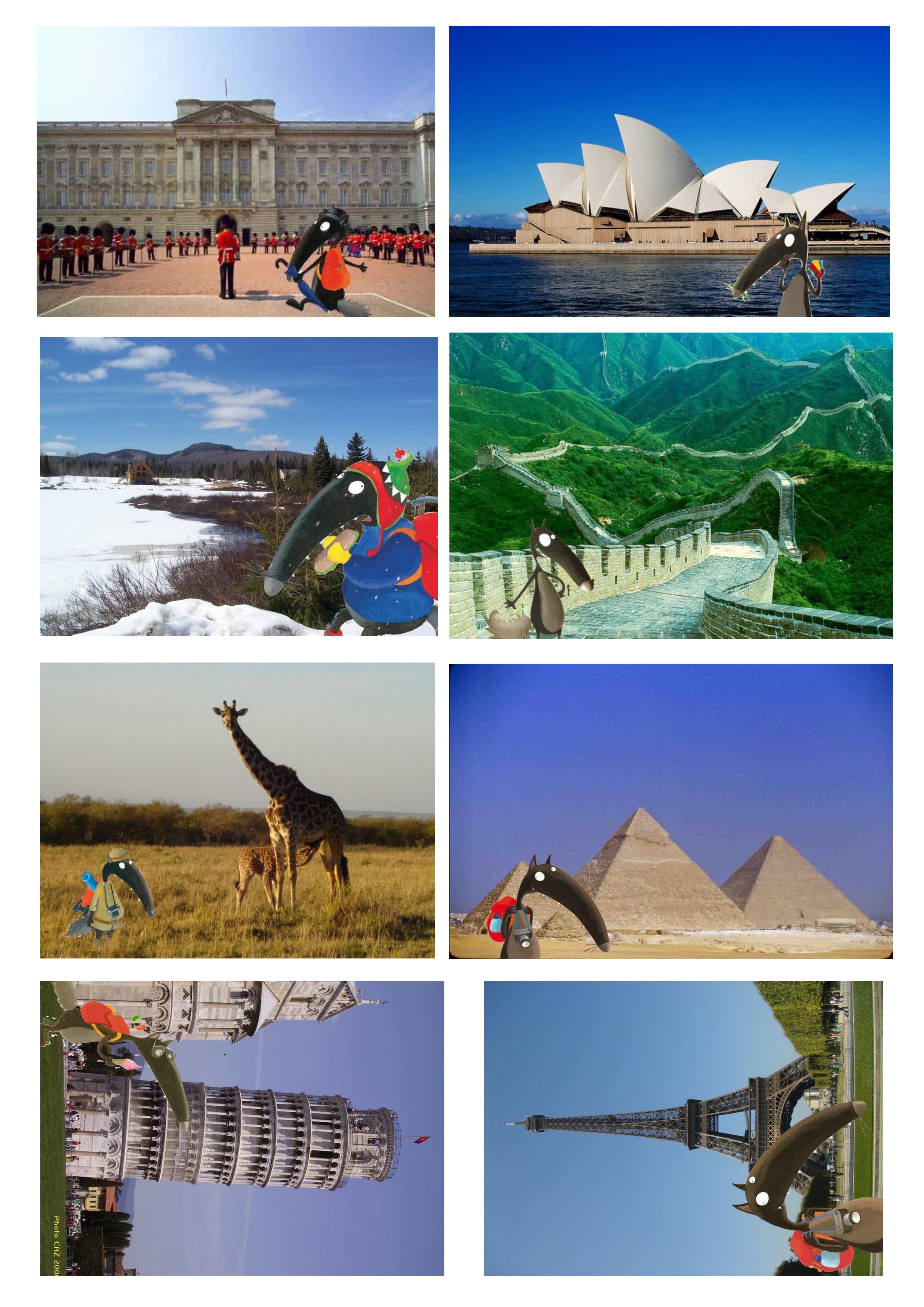 Puzzle de la couverture | Loup, Tour du monde, Projet de